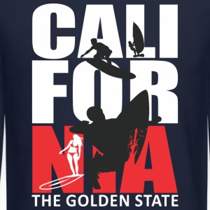 California Surfing The Golden State Long Sleeve Shirts - Crewneck Sweatshirt