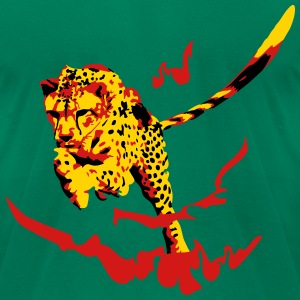 cheetah fire T-Shirts - Men's T-Shirt by American Apparel