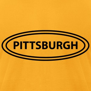 old_fashioned_double_oval_with_pittsburg T-Shirts - Men's T-Shirt by American Apparel