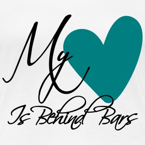 My Heart Is Behind Bars Women's T-Shirts - Women's Premium T-Shirt