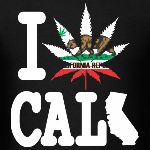 I weed Cali Map T-Shirts - Men's T-Shirt