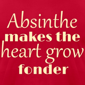 Absinthe Makes The Heart Grow Fonder T-Shirts - Men's T-Shirt by American Apparel