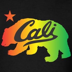 CALI Bear Tri Colors T-Shirts - Men's T-Shirt
