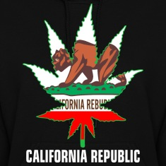 Weed California Republic Hoodies