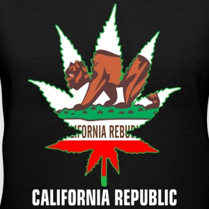 Weed California Republic Women's T-Shirts - Women's V-Neck T-Shirt
