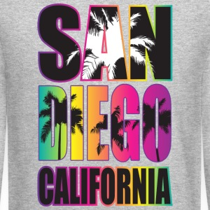 San Diego Beach California Long Sleeve Shirts - Crewneck Sweatshirt