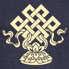 Eternal Knot, Endless, Lotus, Tibetan Buddhism, Long Sleeve Shirts
