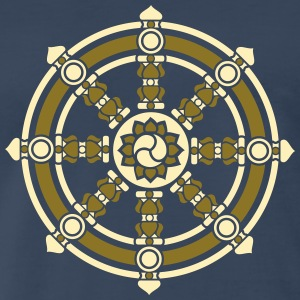 Dharmachakra, Darma Wheel of Law, Buddhist Symbol T-Shirts - Men's Premium T-Shirt