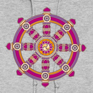 Dharma Wheel of Fortune, Buddhism, Chakra Hoodies - Women's Hoodie
