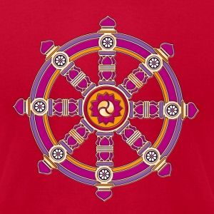Dharma Wheel of Fortune, Buddhism, Chakra T-Shirts - Men's T-Shirt by American Apparel
