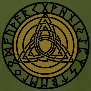 Triple Triquetra, Rune Circle, Trinity, Perfection T-Shirts - Men's T-Shirt by American Apparel