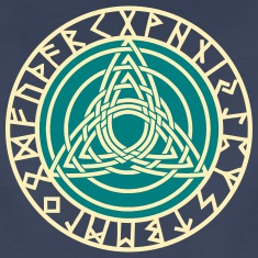 Triple Triquetra, Rune Circle, Trinity, Perfection Women's T-Shirts