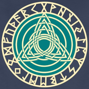Triple Triquetra, Rune Circle, Trinity, Perfection Women's T-Shirts - Women's Premium T-Shirt