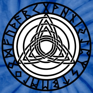 Triple Triquetra, Rune Circle, Trinity, Perfection T-Shirts - Unisex Tie Dye T-Shirt