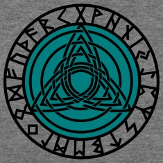 Triple Triquetra, Rune Circle, Trinity, Perfection Long Sleeve Shirts