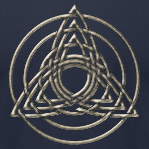 Triple Triquetra, Trinity, Symbol of perfection T-Shirts - Men's T-Shirt by American Apparel