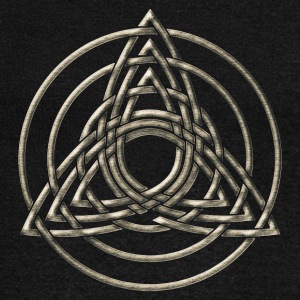 Triple Triquetra, Trinity, Symbol of perfection Long Sleeve Shirts - Women's Wideneck Sweatshirt