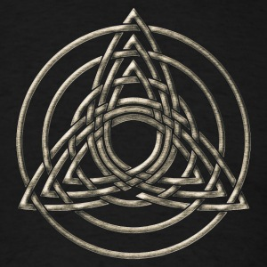 Triple Triquetra, Trinity, Symbol of perfection T-Shirts - Men's T-Shirt