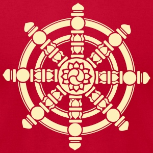 Dharma Wheel, Dharmachakra, Spirituality, Buddhism T-Shirts - Men's T-Shirt by American Apparel