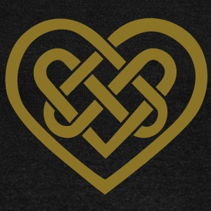 Celtic heart, symbol - infinite love & loyalty Long Sleeve Shirts - Women's Wideneck Sweatshirt