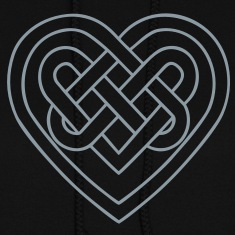 Celtic heart, symbol - infinite love & loyalty Hoodies