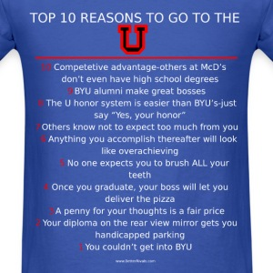 Top 10 reasons to go to the U - Men's T-Shirt