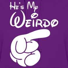 he's my weirdo Hoodies