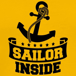 Sailor Inside Anchor Logo Design T-Shirts - Men's Premium T-Shirt