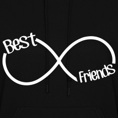 Best Friends Infinity  Hoodies