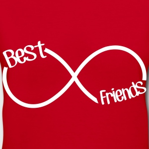 Best Friends Infinity  Women's T-Shirts - Women's V-Neck T-Shirt