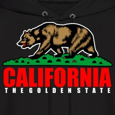 California The Golden State Republic Hoodies
