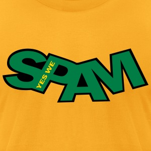 yes_we_spam_vec_3 us T-shirts - Men's T-Shirt by American Apparel