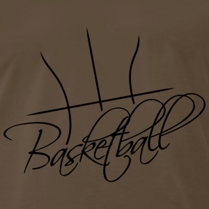 Basketball Text Logo Design T-Shirts - Men's Premium T-Shirt