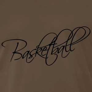 Basketball Text Logo T-Shirts - Men's Premium T-Shirt
