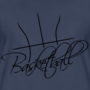Basketball Text Logo Design Women's T-Shirts - Women's Premium T-Shirt
