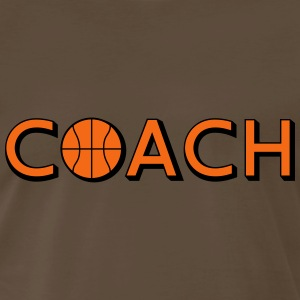 Basketball Coach Logo Design T-Shirts - Men's Premium T-Shirt