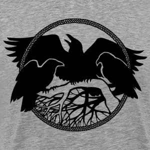 Raven T-Shirt Men's 4XL 3XL Raven Native Art Shirt - Men's Premium T-Shirt