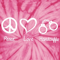 Peace Love Handcuffs T-Shirts