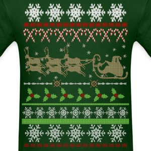 Ugly Christmas Sweater Inspired T-Shirts - Men's T-Shirt