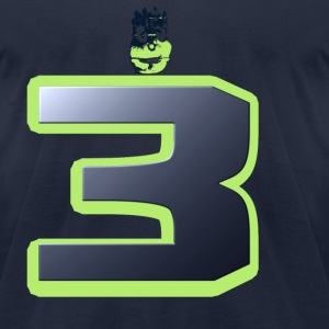 Wilson Seattle 12th Man Face T-Shirts - Men's T-Shirt by American Apparel
