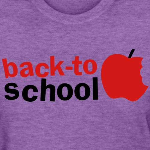 BACK TO SCHOOL with green apple