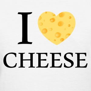 i heart cheese - Women's T-Shirt