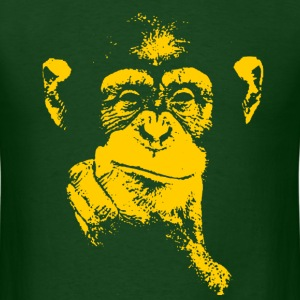 thinking chimpanzee - Men's T-Shirt