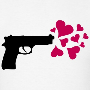 Gun Love Hearts T-Shirts - Men's T-Shirt