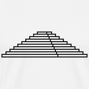 Maya,step pyramid,stages,pyramid,building,temple T-Shirts - Men's Premium T-Shirt