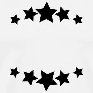 Stars, sheet, text box, circle, emblem, wreath T-Shirts - Men's Premium T-Shirt
