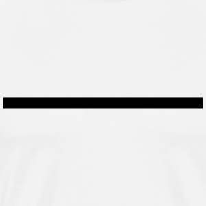 Line, thick, underlined, underlines, straight T-Shirts - Men's Premium T-Shirt
