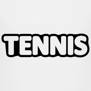 Tennis // Player // matchstick man // Team Logo Kids' Shirts - Kids' Premium T-Shirt
