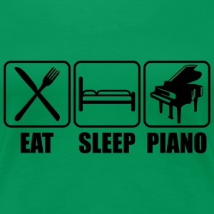 Eat Sleep Piano Logo Women's T-Shirts - Women's Premium T-Shirt