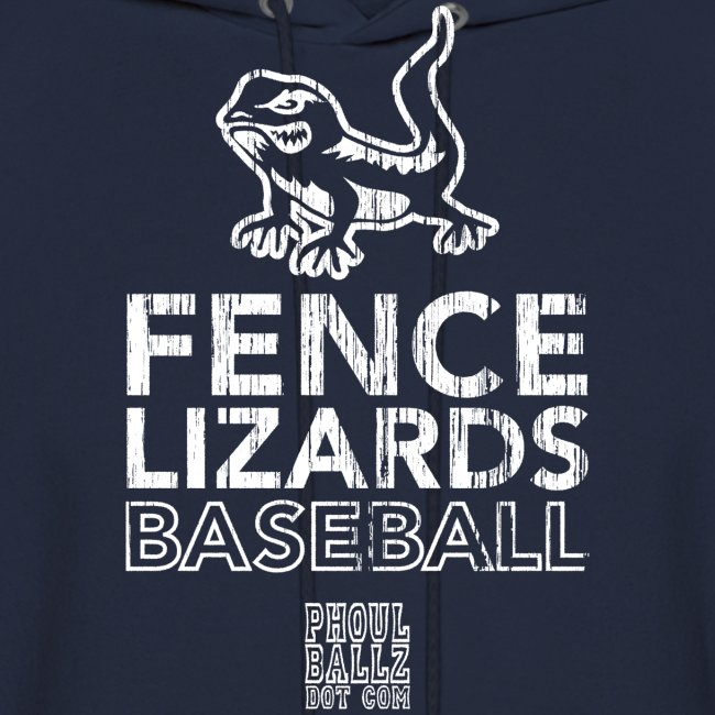 Pickett Fence Lizards Hoody white logo